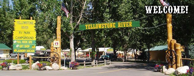 Yellowstone River RV Park and Campground Entrance